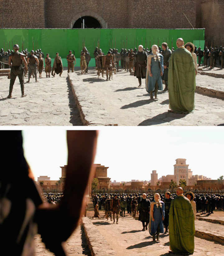 Best TV use of Green Screen - Game of thrones