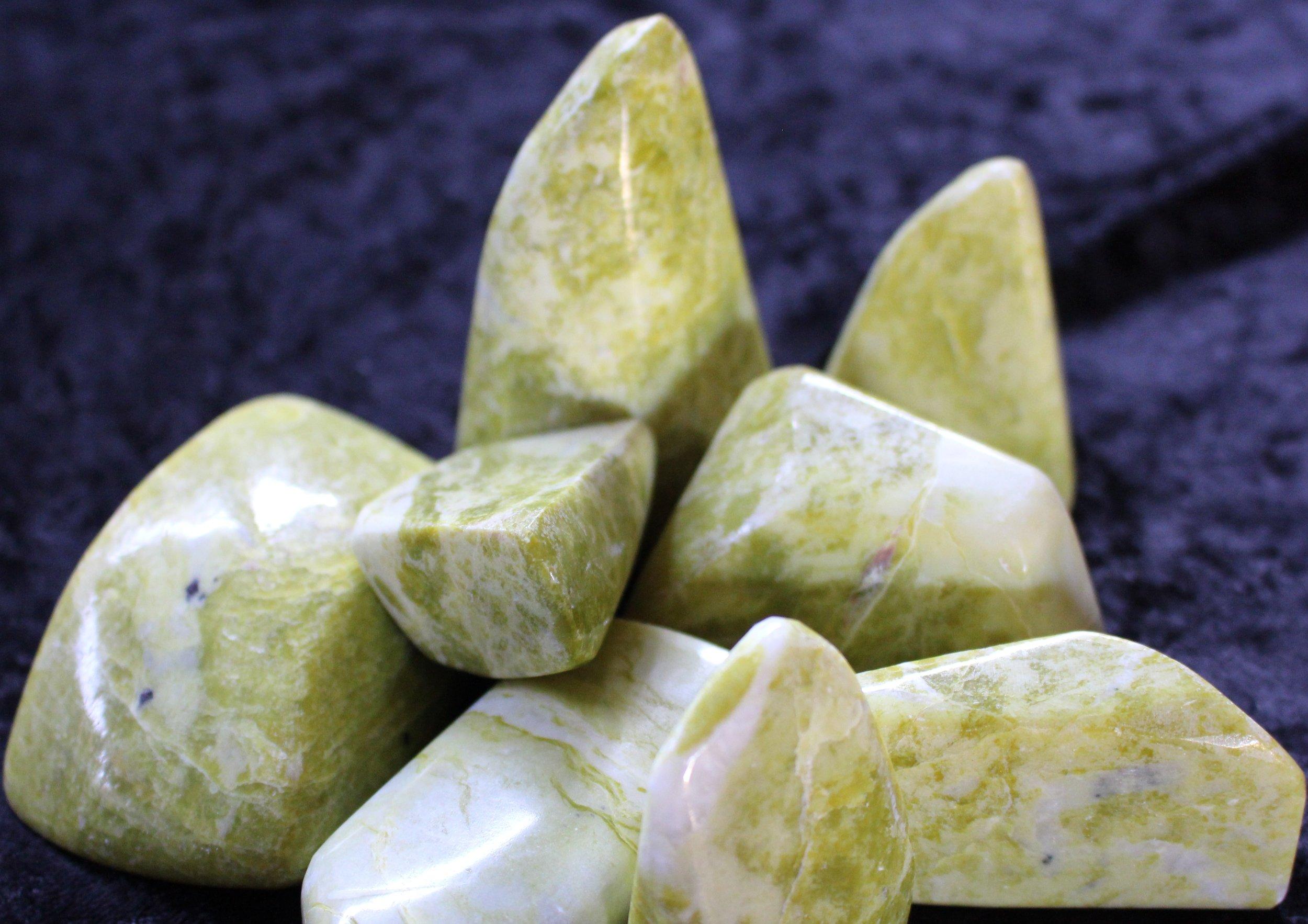 Lemon Serpentine Stones
