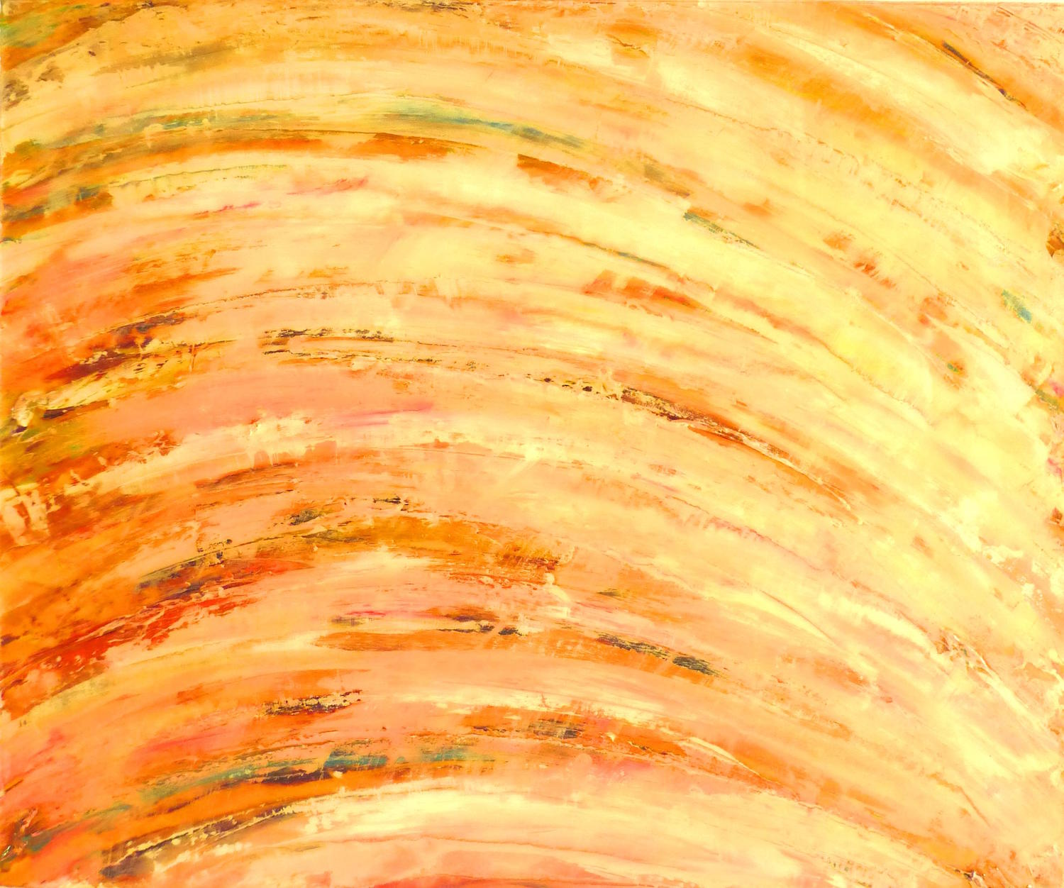 Tangerine Dream / Materials: Pulled oil paint with palette knife