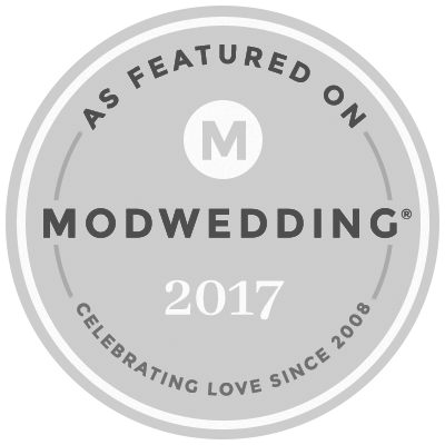 As Featured on Mod Weddings