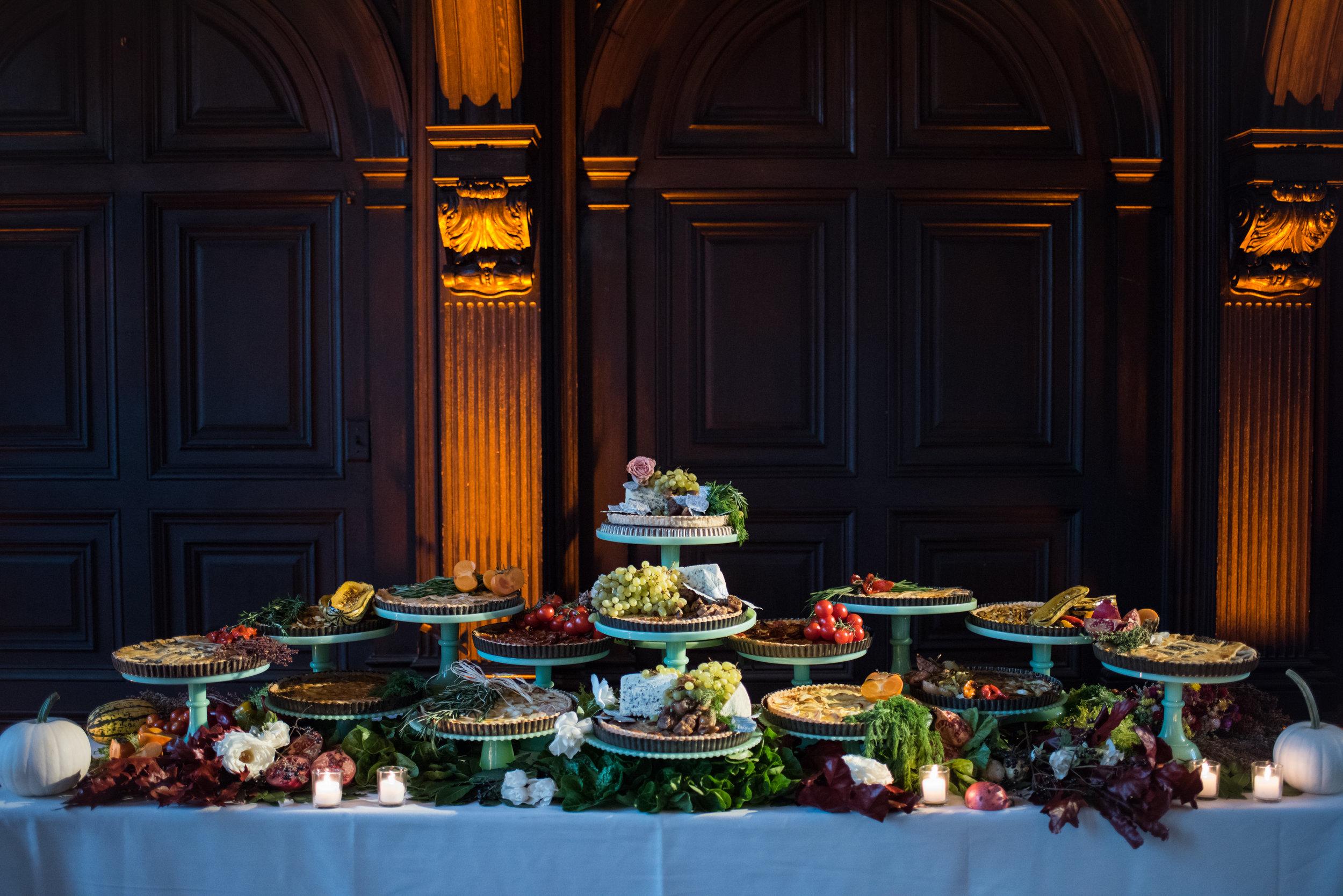 Fall wedding tart display.  Photo by Cappy Hotchkiss.
