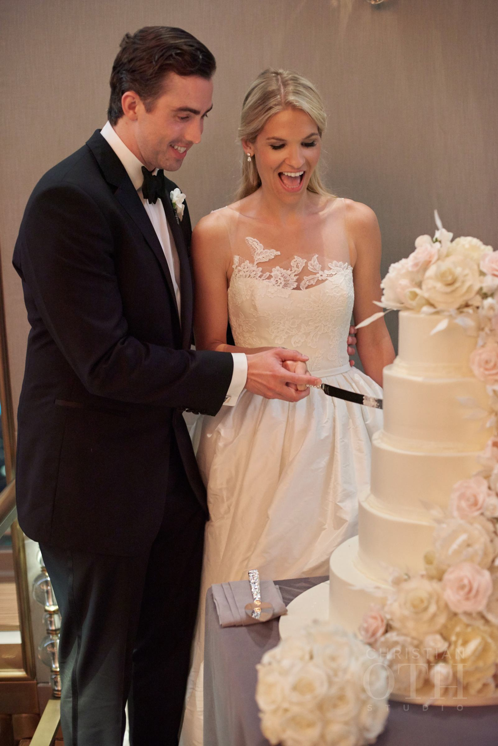 Cake Cutting.  Photo by Christian Oth Studio.