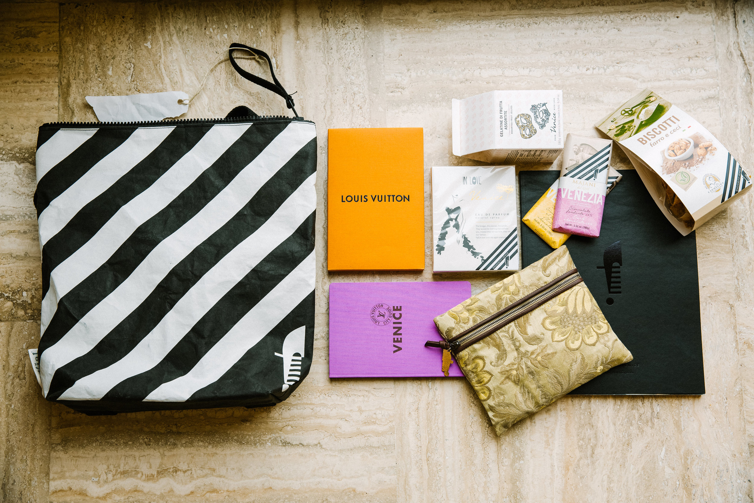 A peek at our registration gift bag.  Photo by Betsi Ewing Studio.