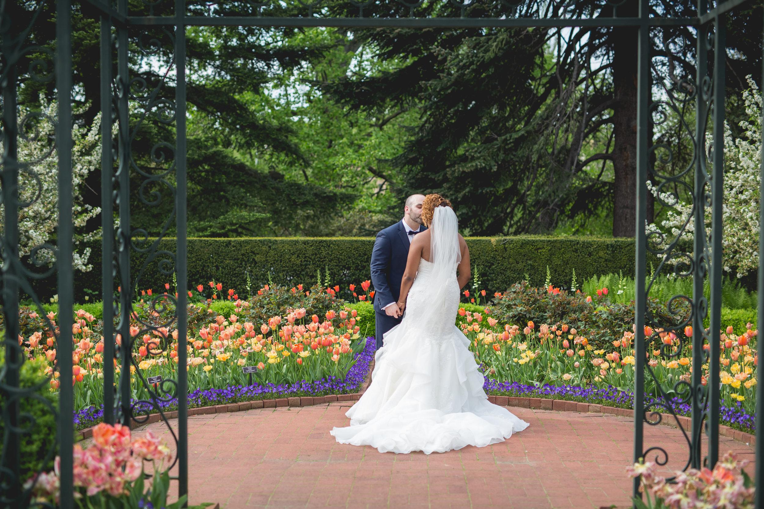 First look in the tulip garden. Photo by Heartfelt Studios.