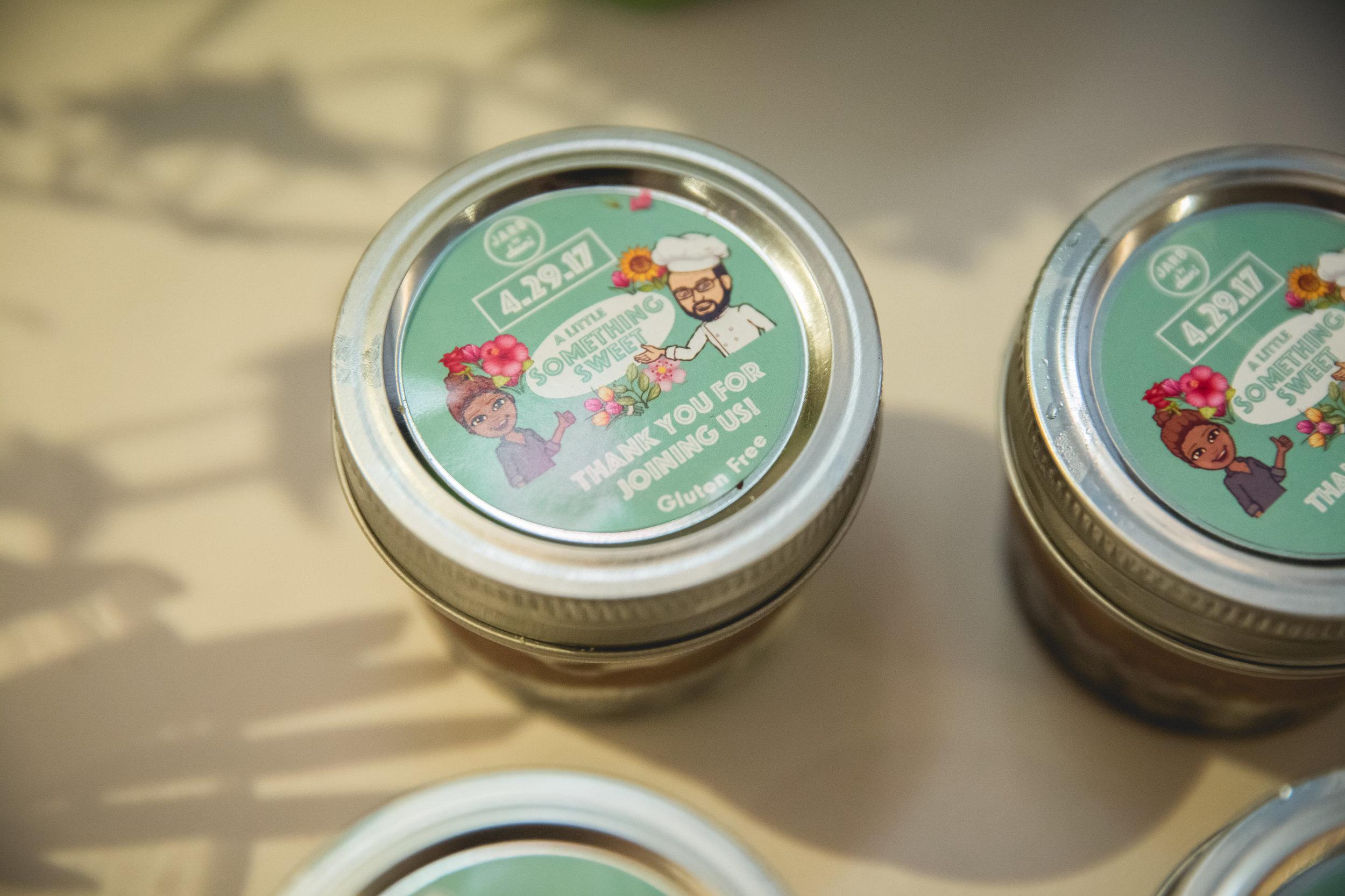 Jars by Dani Wedding Favors. Photo by Heartfelt Studios.