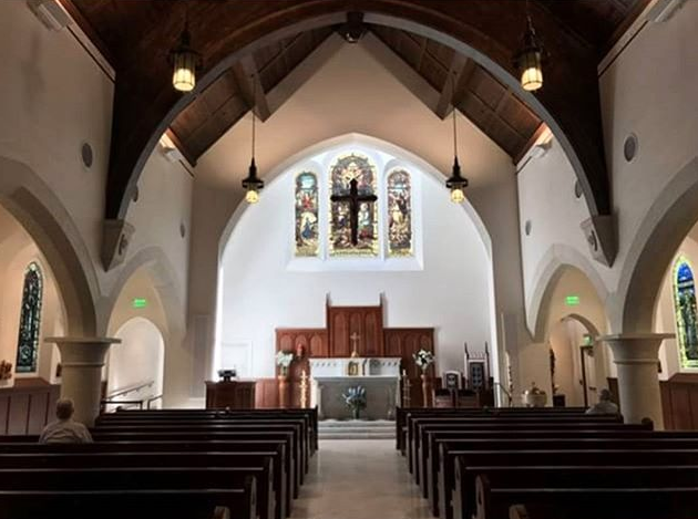 Interior of the brand new Our Lady of Good Voyage Shrine in Boston Seaport.  Photo via @CatholicImagery.