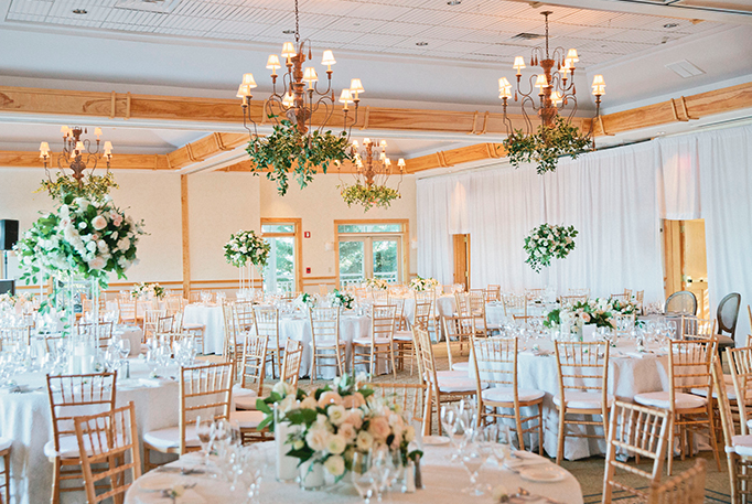 Wedding Reception at The Wequassett in Cape Cod.   Photo by Carly Michelle Photography .