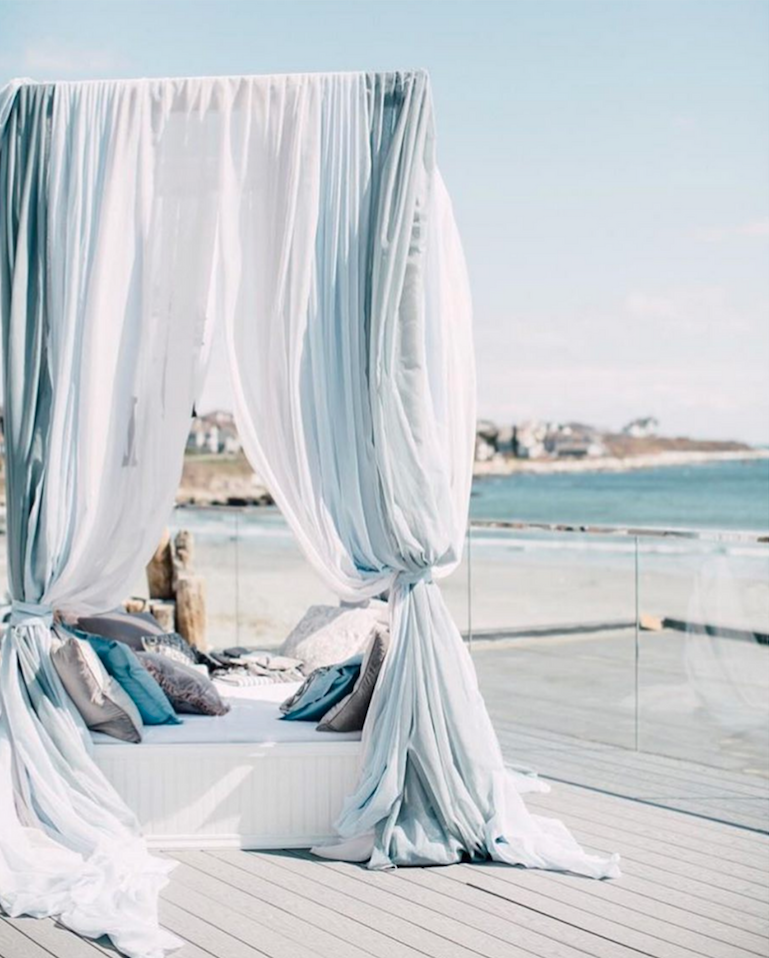 The Newport Beach House feels like you've rented a big house for a summer escape with friends, except that it's your wedding.      Photo by Kearsten Taylor Photography  .