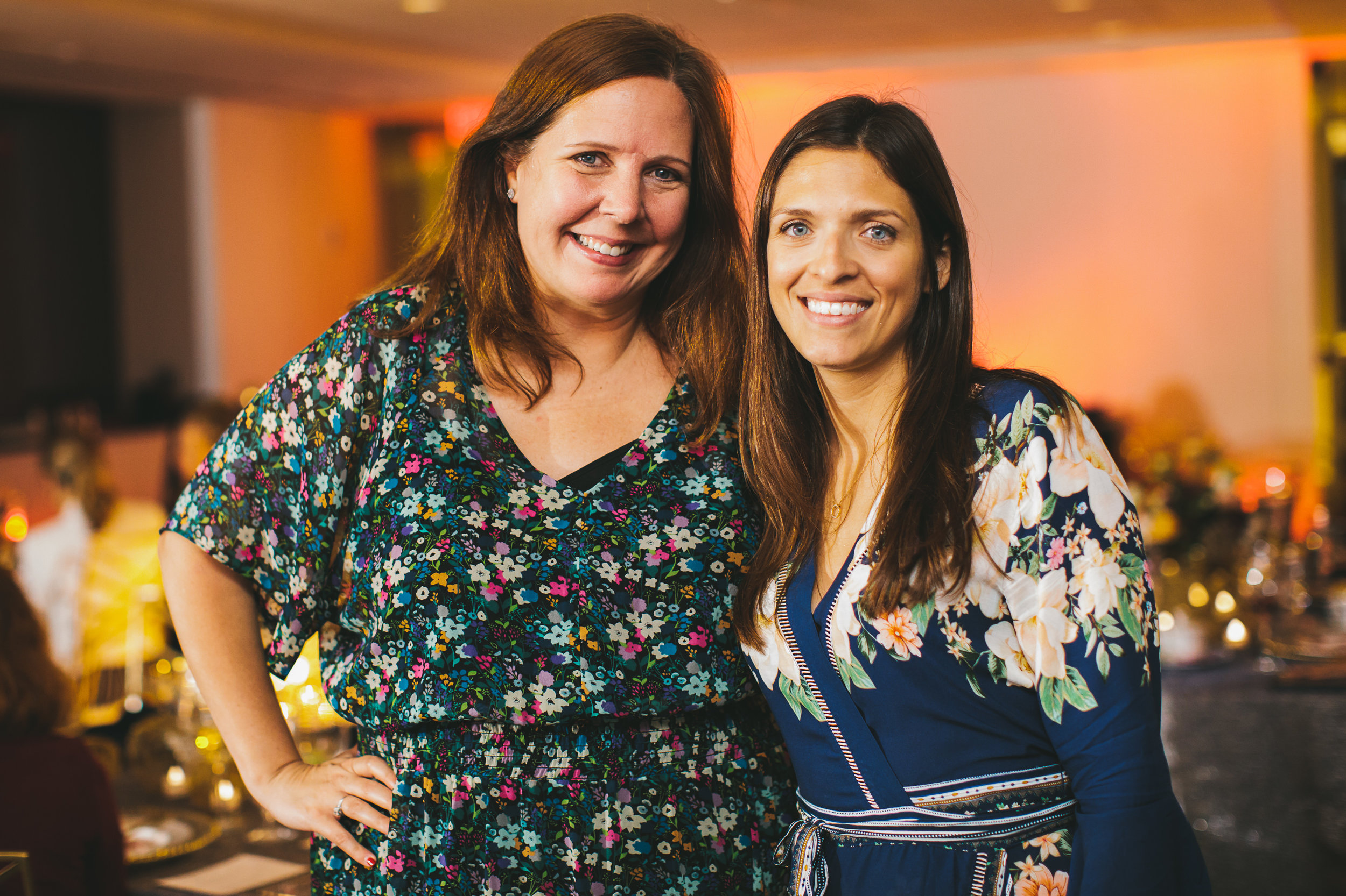 Co-creators of Boston Planners Dining Club, Tammy Golson of Tammy Golson Events and Sarah Glick of Brilliant Event Planning.  Photo by Lindsay Hite Photography.