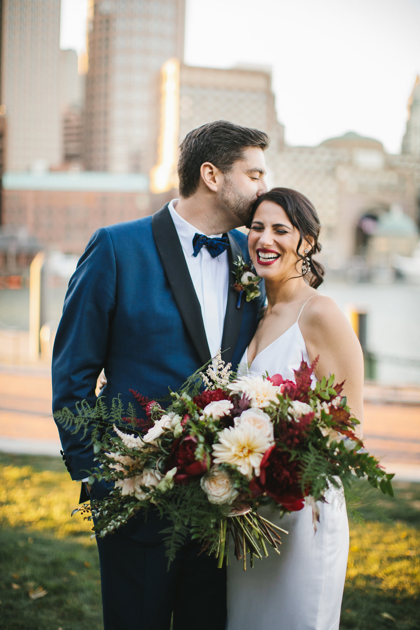 Boston Seaport Bride and Groom Portraits by Lindsay Hite Photography.