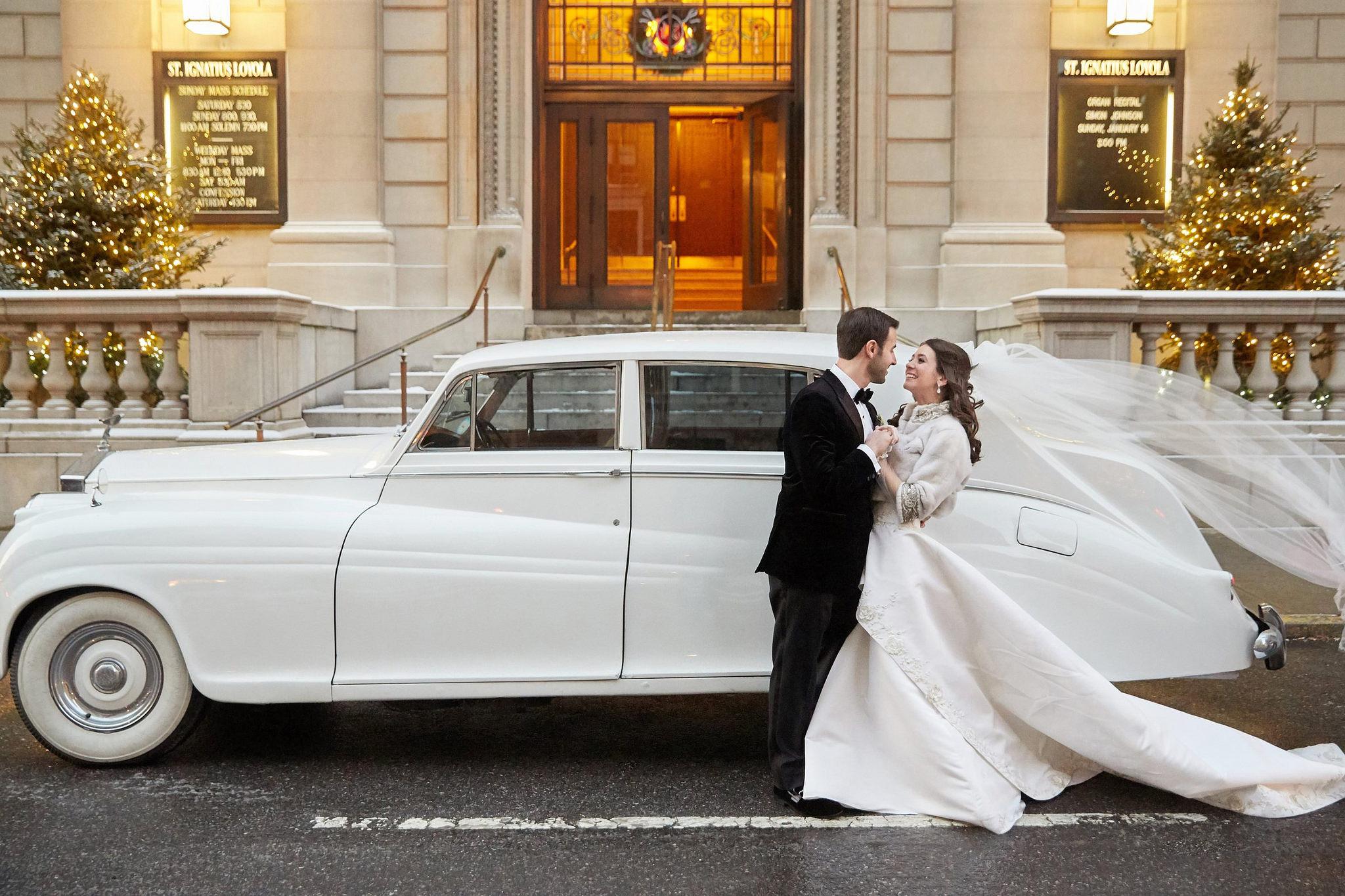 Bride and groom getaway car - 1955 Rolls Royce