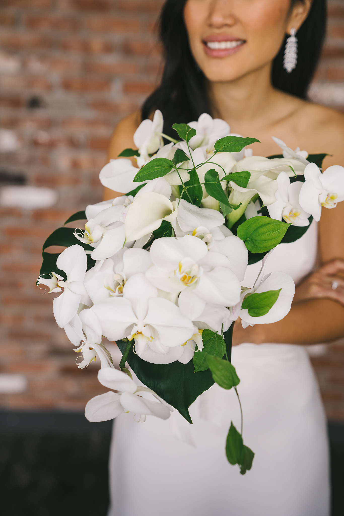 Modern Orchid Bride Bouquet