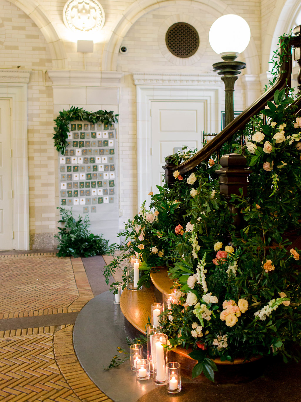 Romantic Stair Decor Ideas Wedding