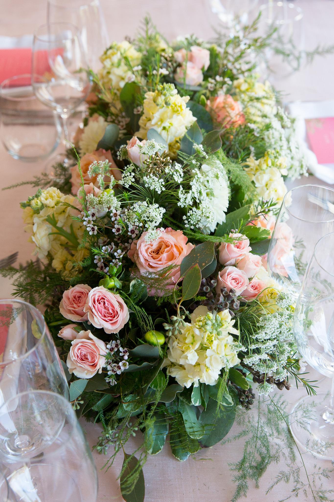 Blush Bridal Shower Flowers