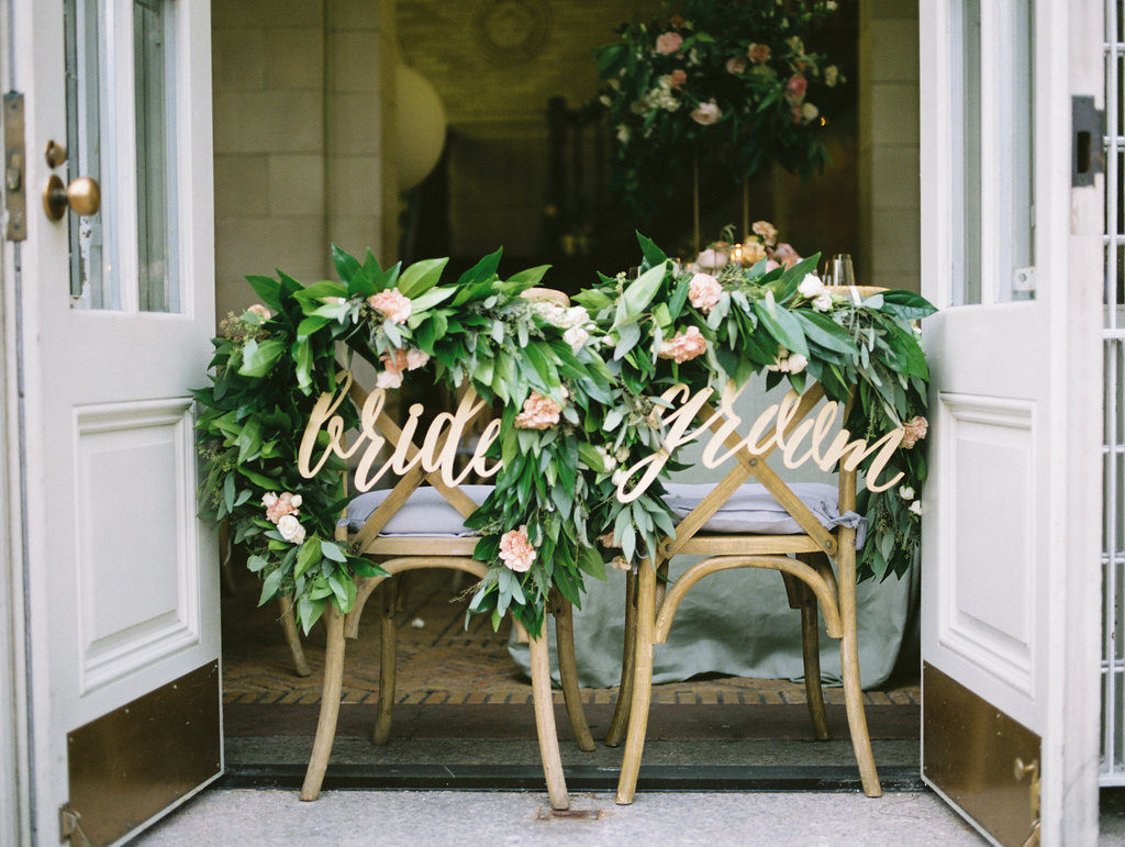 Bride and Groom Seating Signs