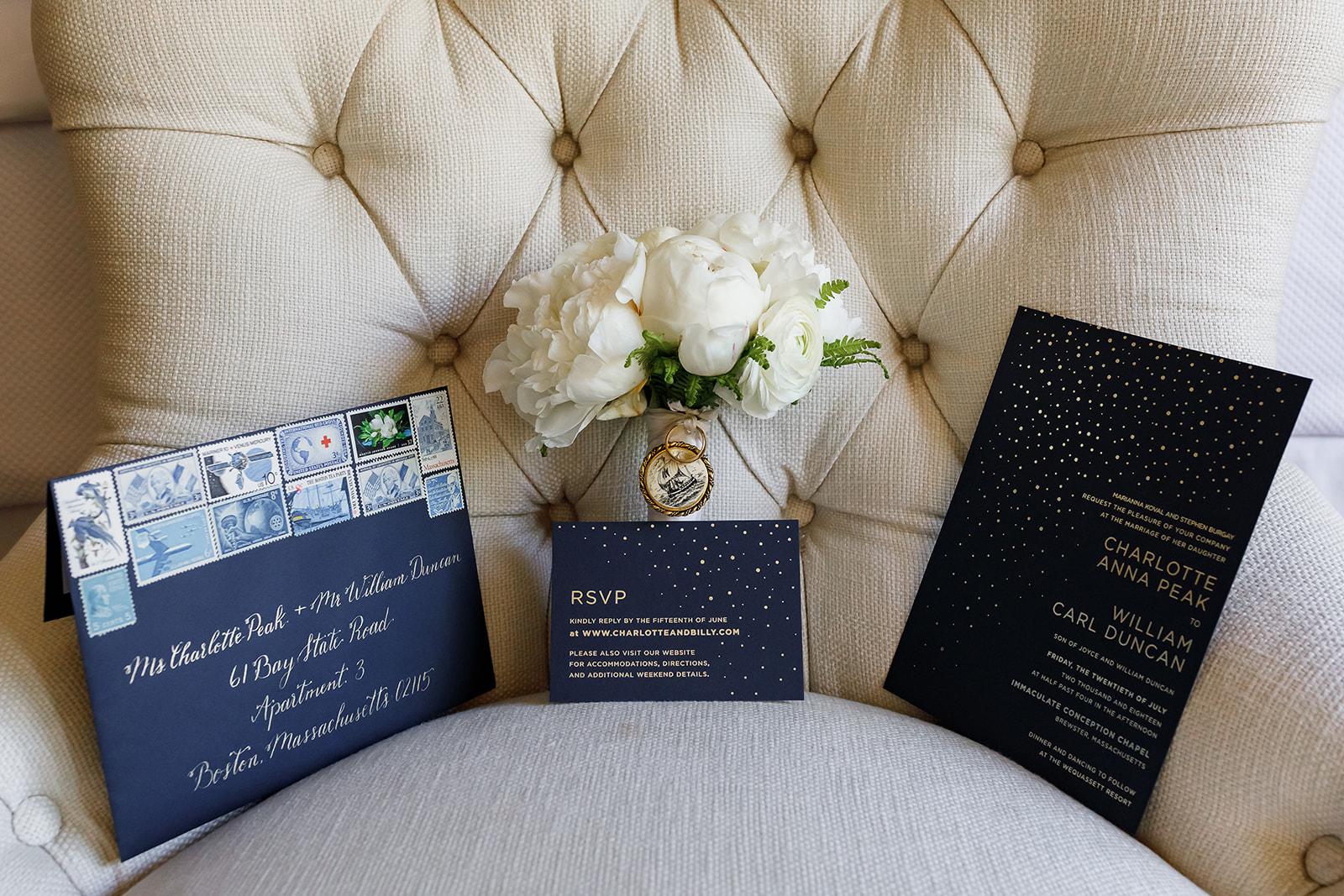 Wedding Invitation Suite Navy