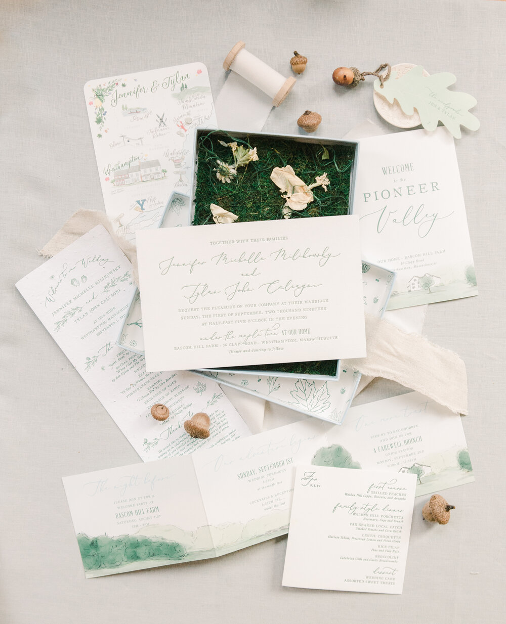 Boxed wedding invitation inspiration