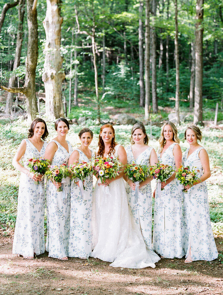Floral Bridesmaid dress wedding inspiration