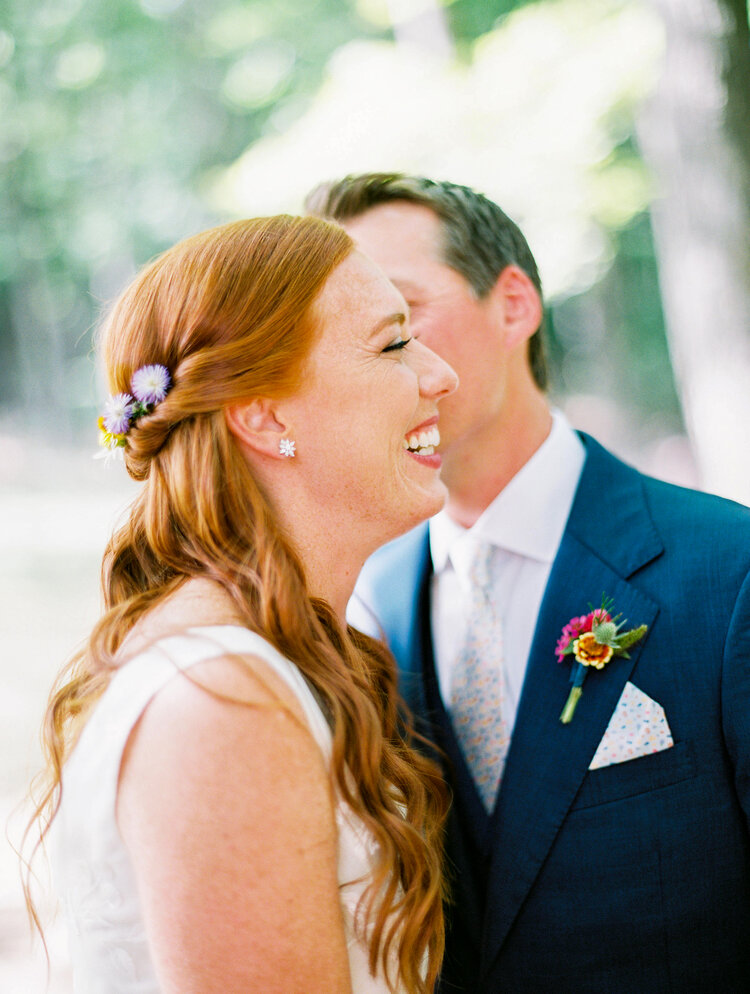 First Look Pioneer Valley Wedding