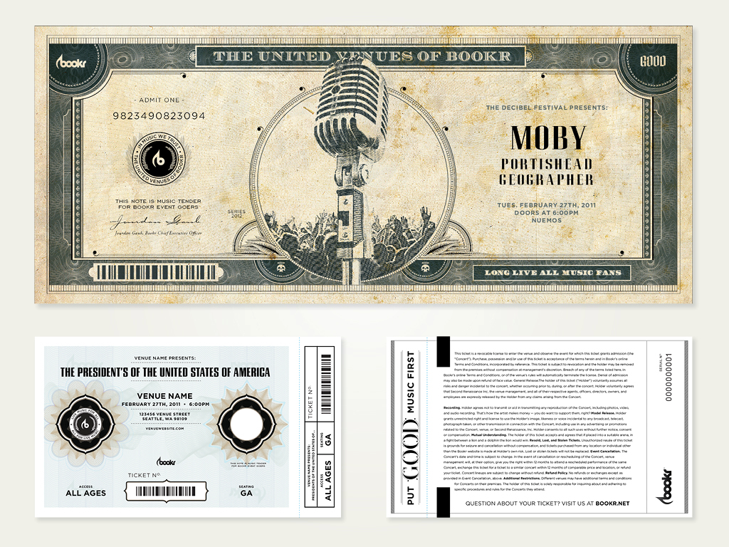 Customer's love the lavish detail and monetary features of our tamperproof printed tickets.
