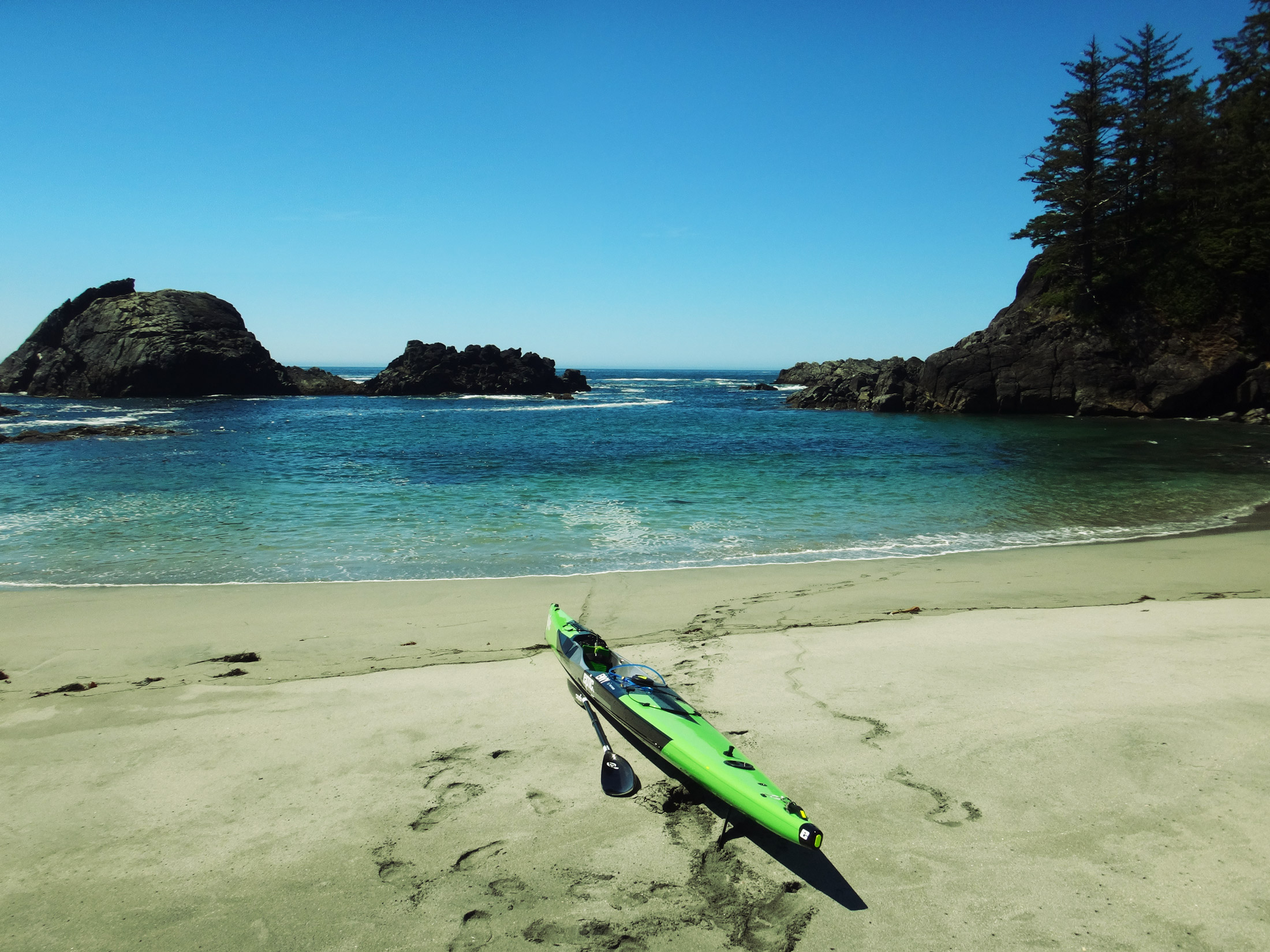I designed and built a custom surfski in partnership with Epic Kayaks for my 2015 Vancouver Island Circumnavigation Record Attempt. You can read about that spicey little adventure  here.  I hope to make another attempt on the record sometime soon.