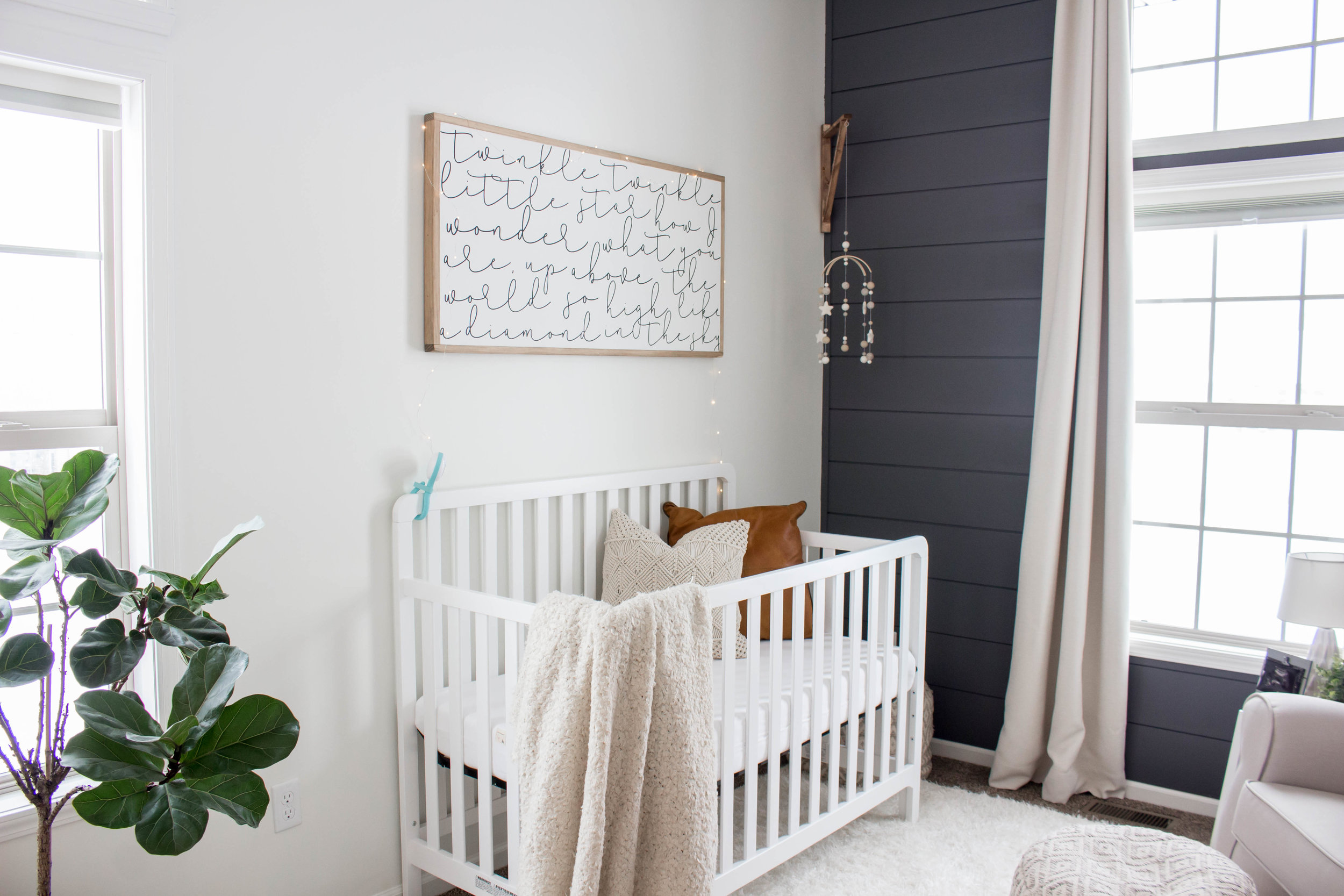 Baby Boy Nursery, Modern Farmhouse Style