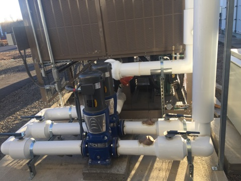 Chill Water Lines and Pumps