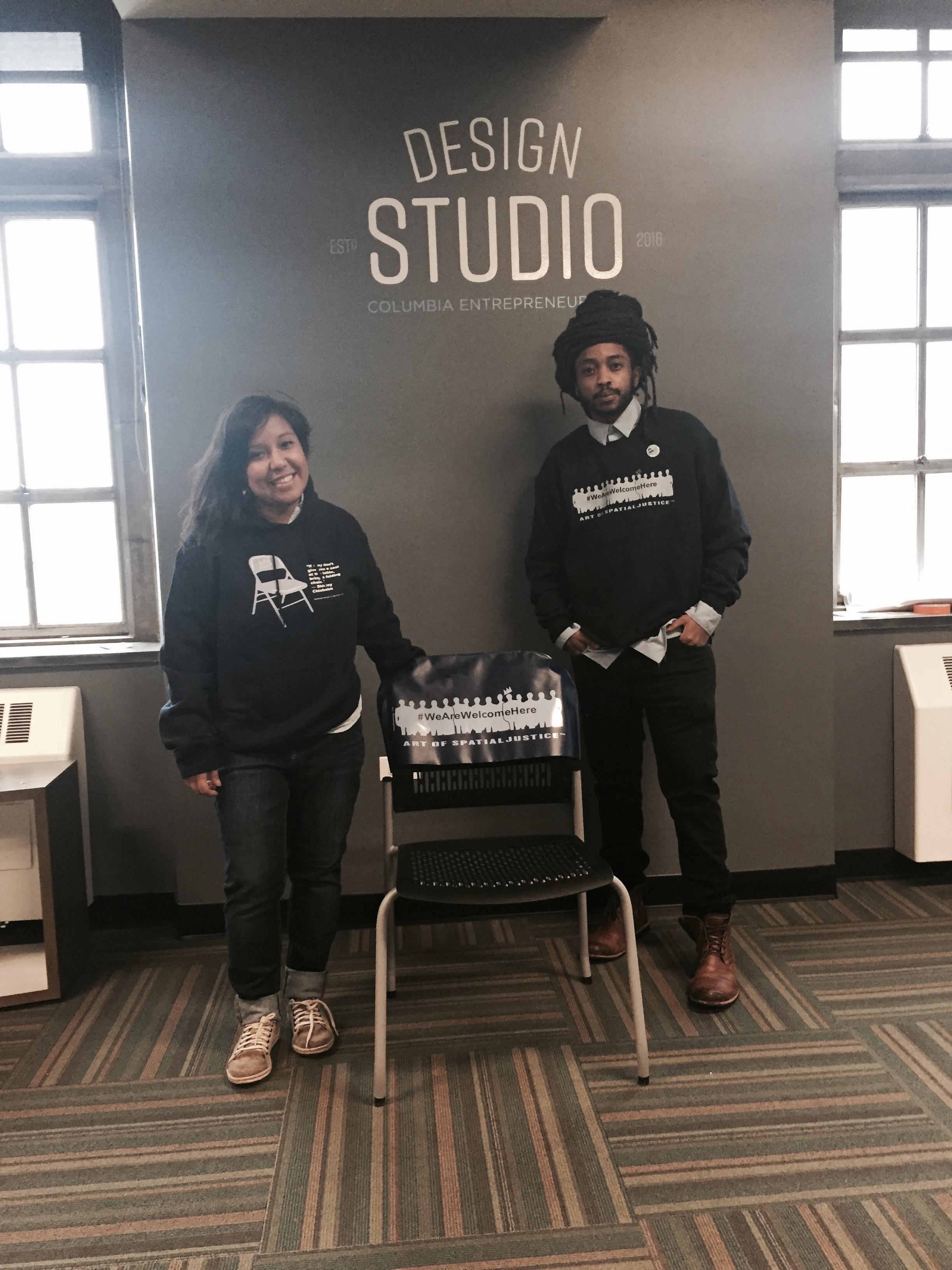 Founders Ilya & Marisol STAND at the Columbia Design Studio, New York, NY