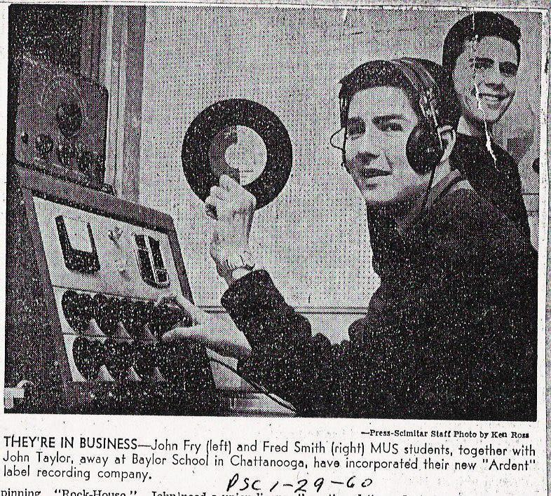 1960 Newspaper clipping from Memphis'  Press-Scimitar
