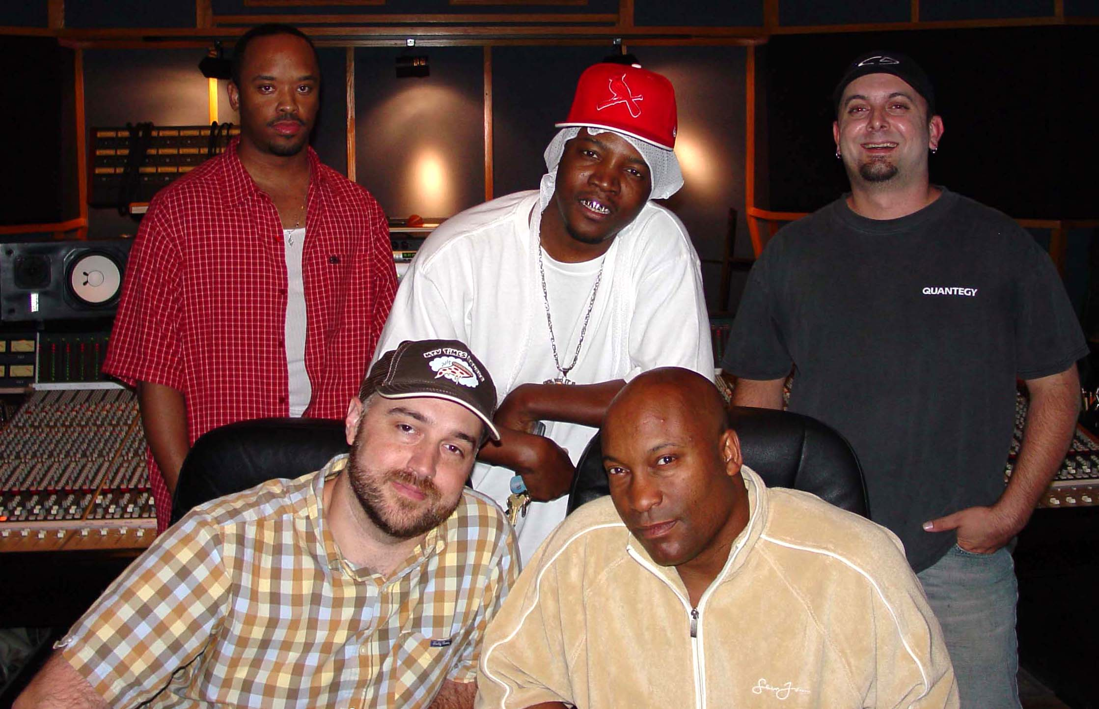 Craig Brewer and John Singleton (front) working on the Black Snake Moan Soundtrack