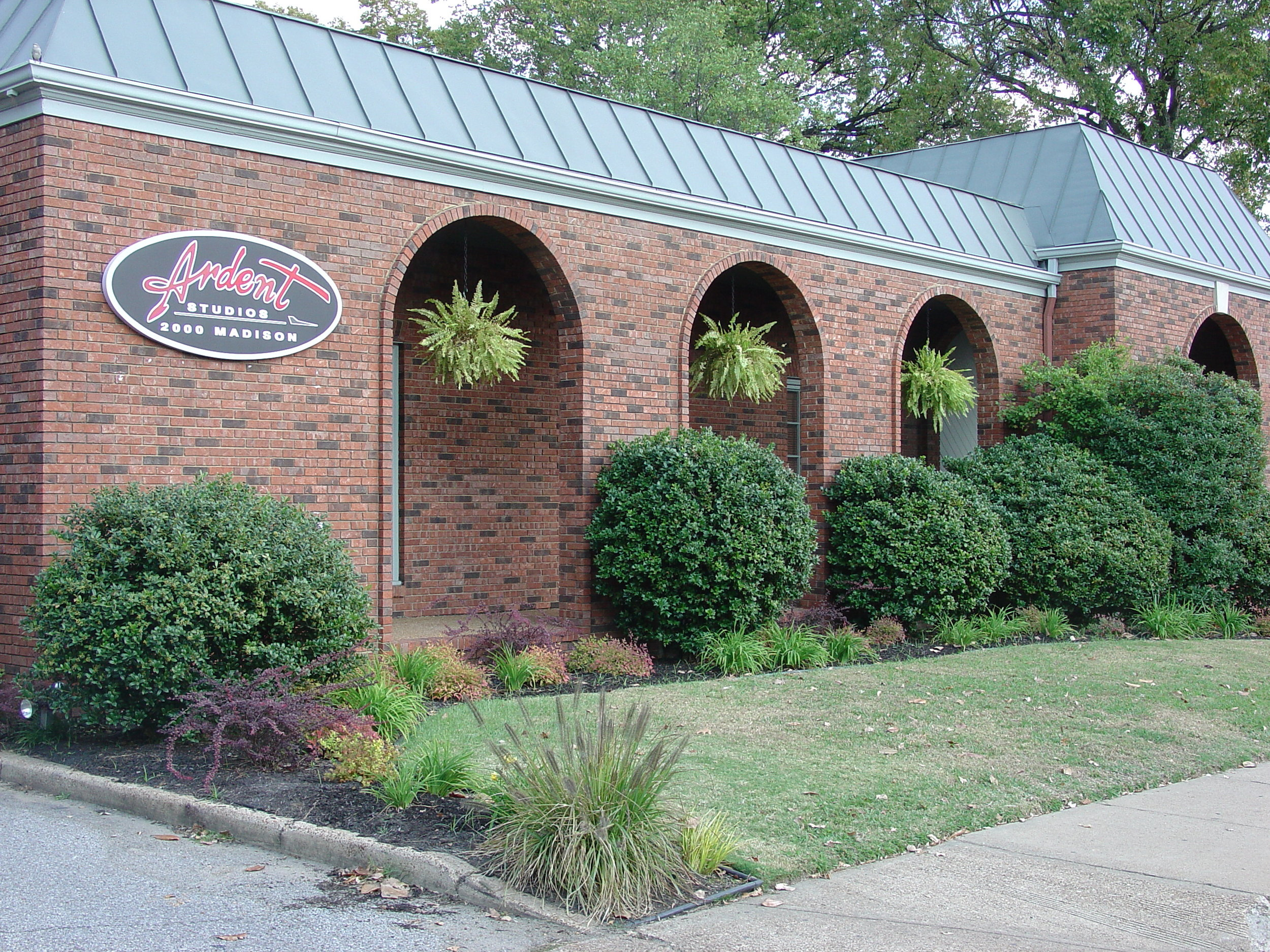 Ardent Studios at it's current location on Madison Ave. in Memphis, TN