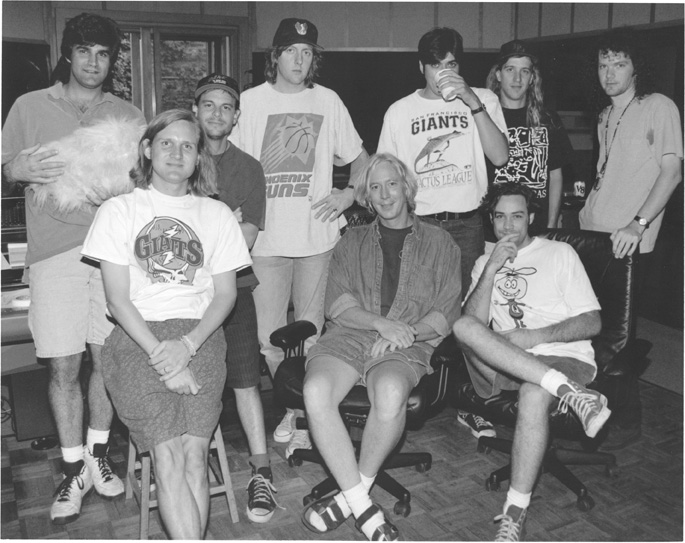 Ardent Studio A - members of Gin Blossoms with John Hampton (seated center)