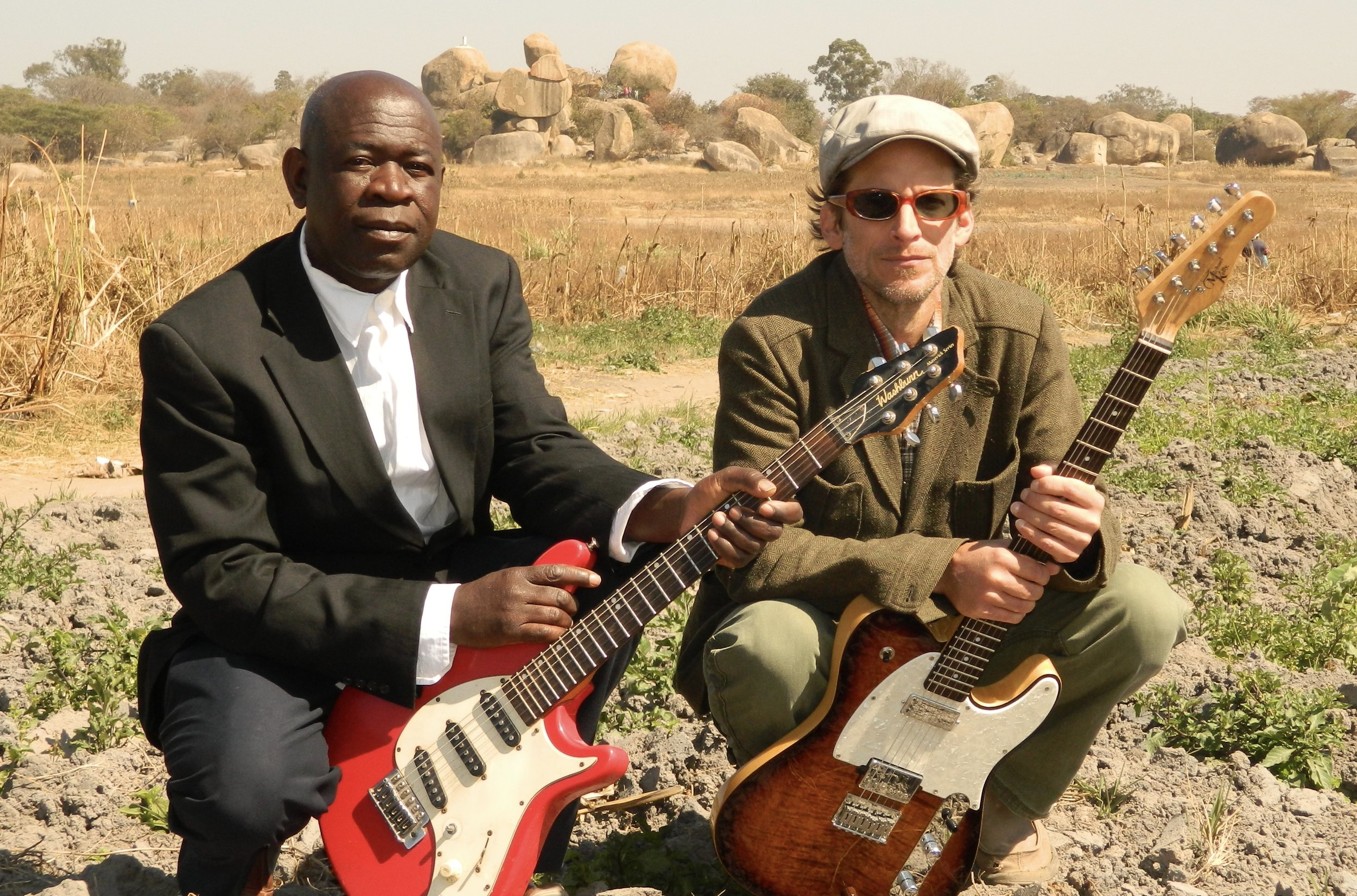 "Matt in Chitungwiza, Zimbabwe with close friend and songwriting collaborator, Killion ""Kidza"" Manyika."
