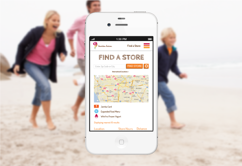 Mobile-friendly store location probably doesn't sound like a very exciting feature, unless you are a smoothie retailer who has never had a mobile-friendly store location tool on your website before.
