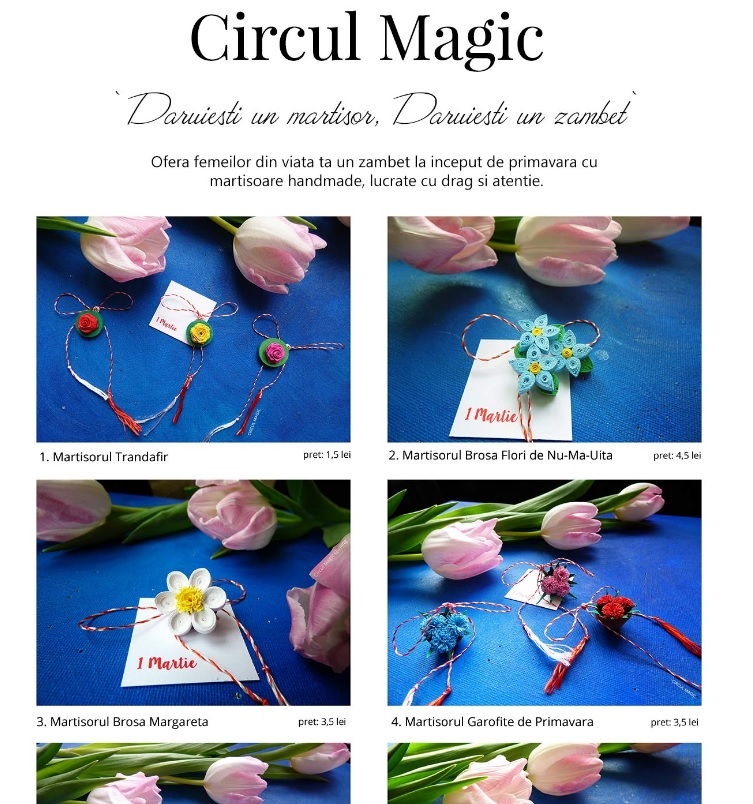 Example of Circul Magic's Digital Catalog for the Spring Collection