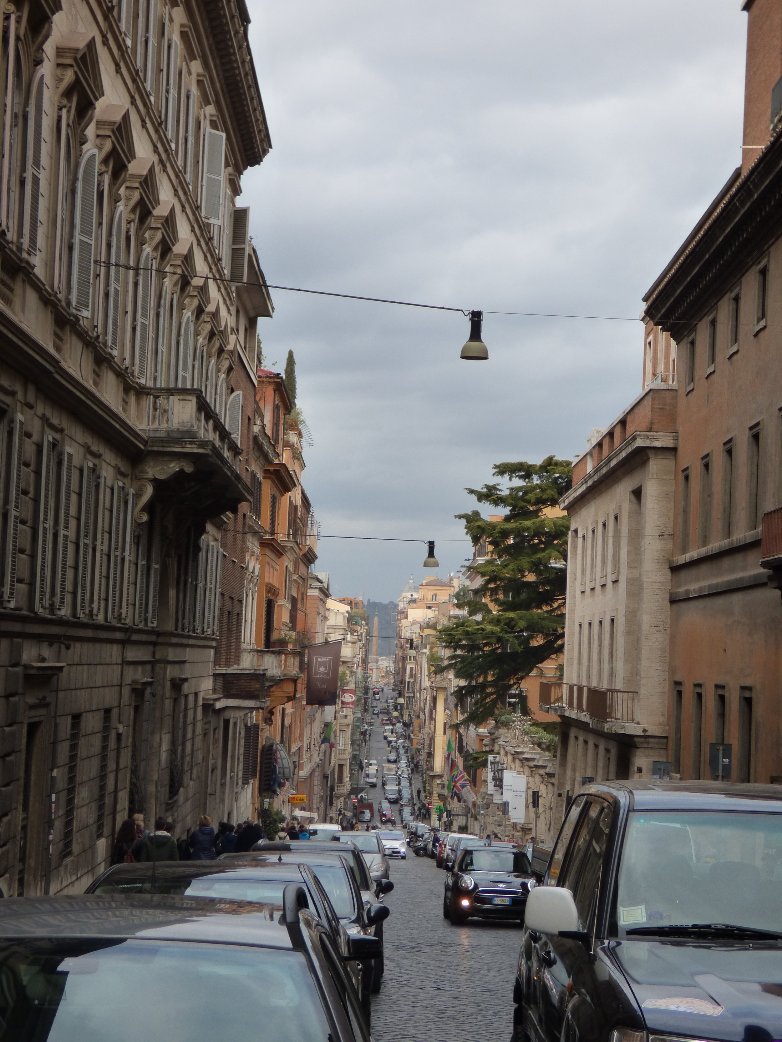 View from the intersection towards Piazza di Spagna