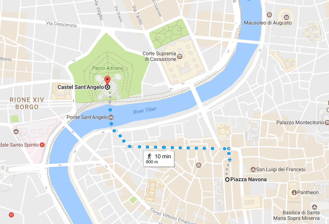 4. From Piazza Navona to Castel Sant'Angelo