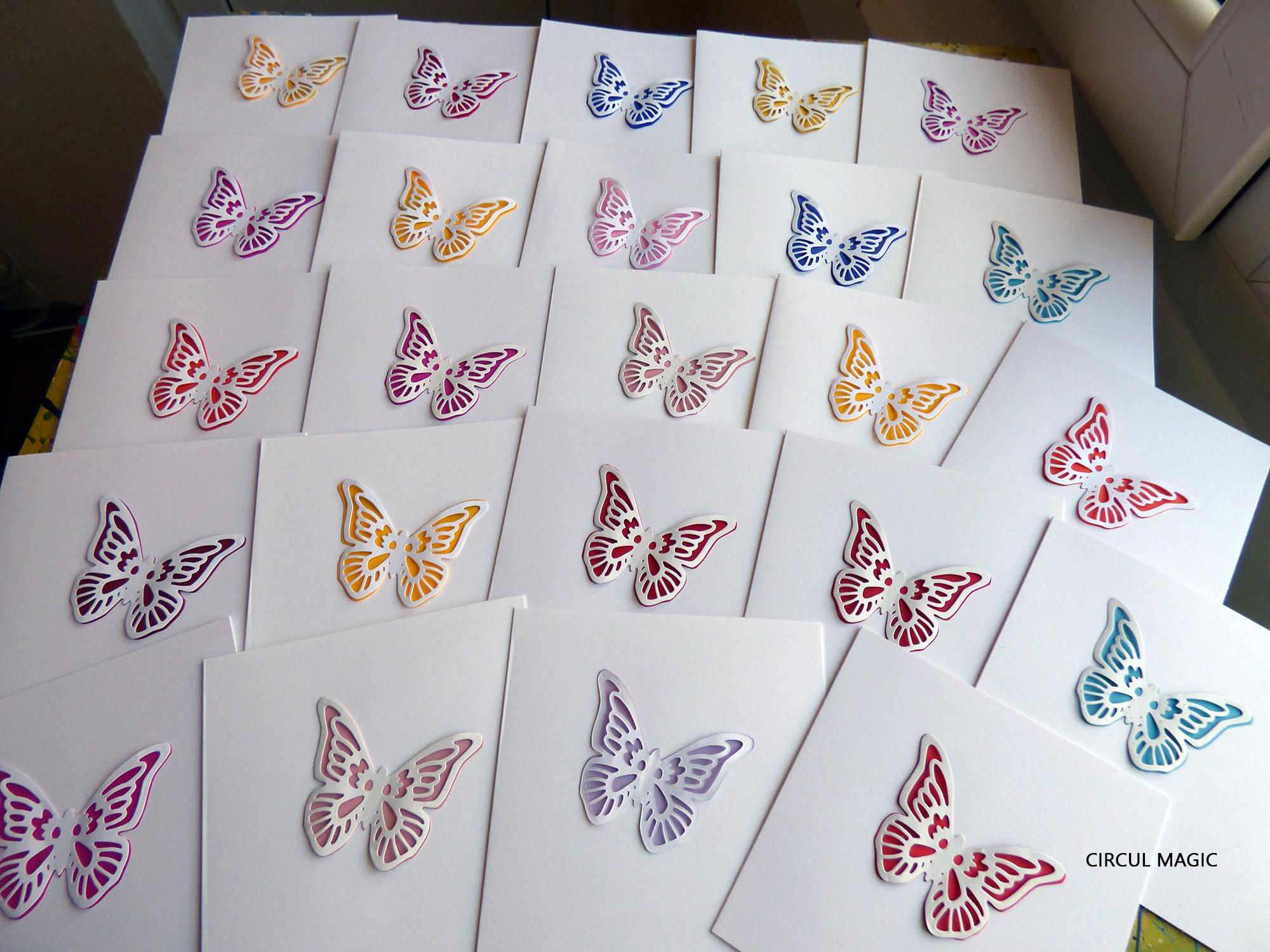 Thank You Cards: Paper Butterflies