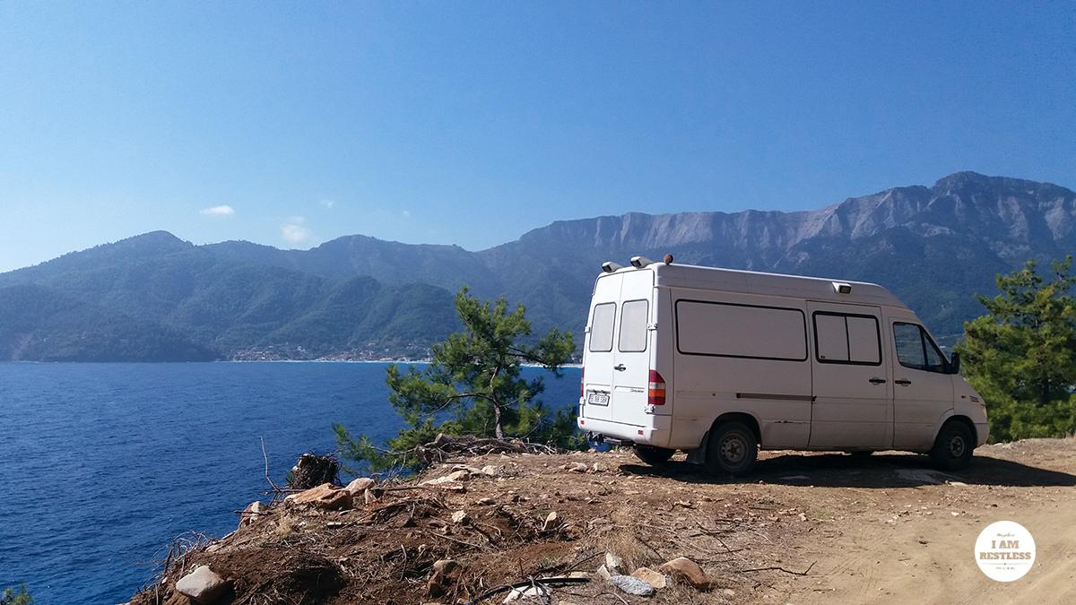 First morning on Thassos, near Chrisi Ammoudia