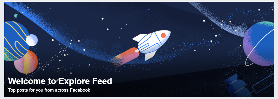 Cover image of Explore Feed on Facebook