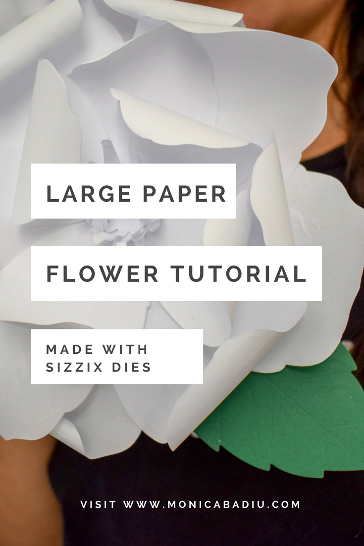 How to Make a Paper Flower with Sizzix's New Large Rose Die TUTORIALS How to Make a Paper Flower with Sizzix's New Large Rose Die