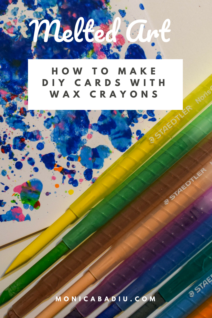 Melted Crayon Art DIY Ideas - How to make Cards with wax crayons shavings - See more at www.monicabadiu.com