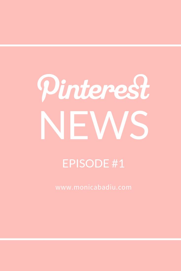 News about Pinterest on the blog - holiday season webinars at www.monicabadiu.com