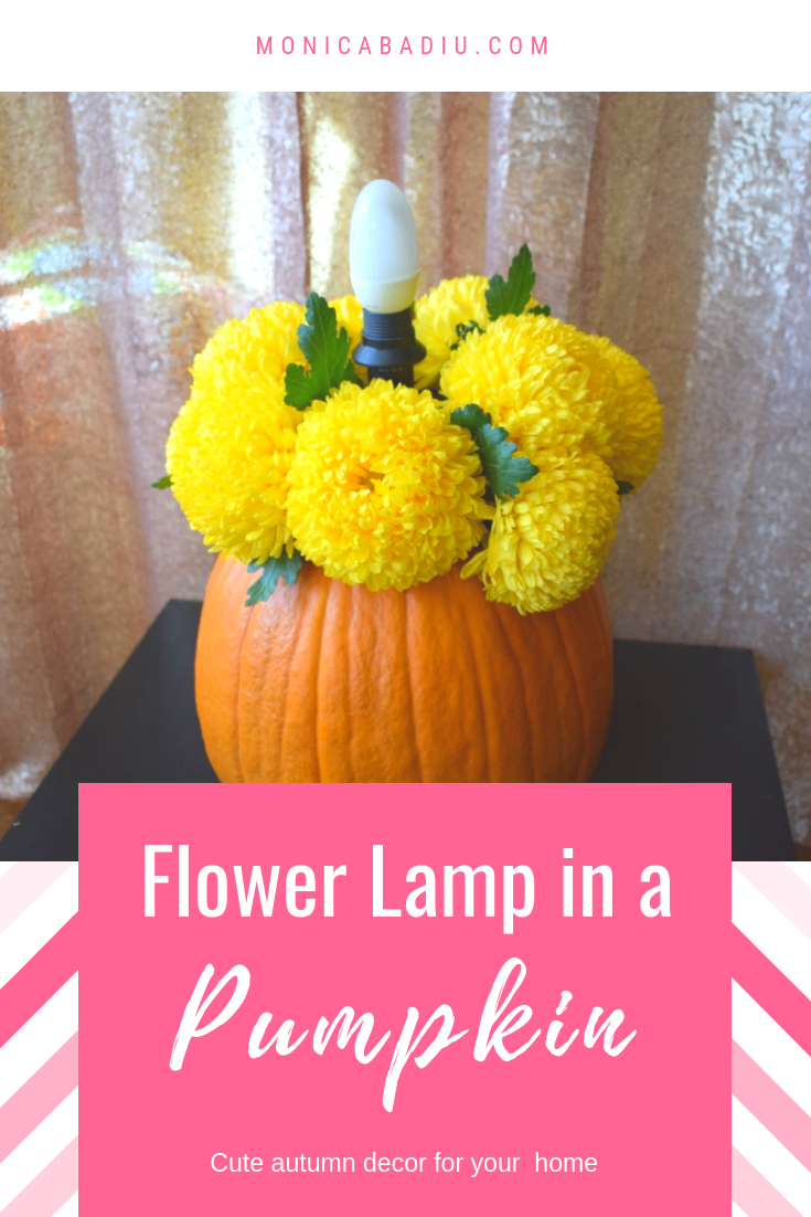 fall decor in a pumpkin with flowers and lamps Monicas Makes (4).png