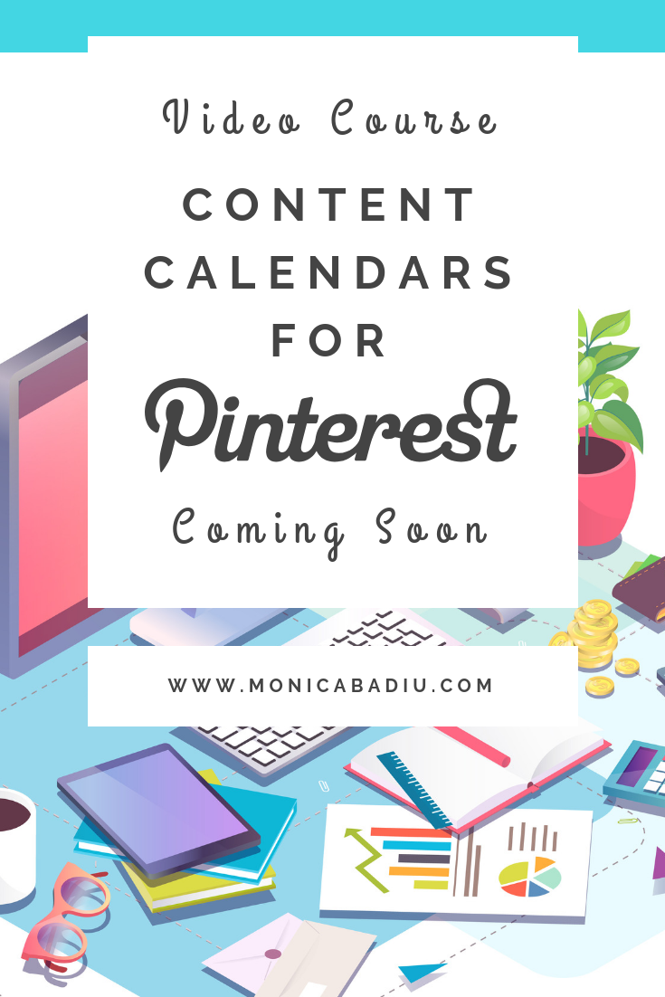 How to create and use a content calendar for Pinterest - Learn more at www.monicabadiu.com