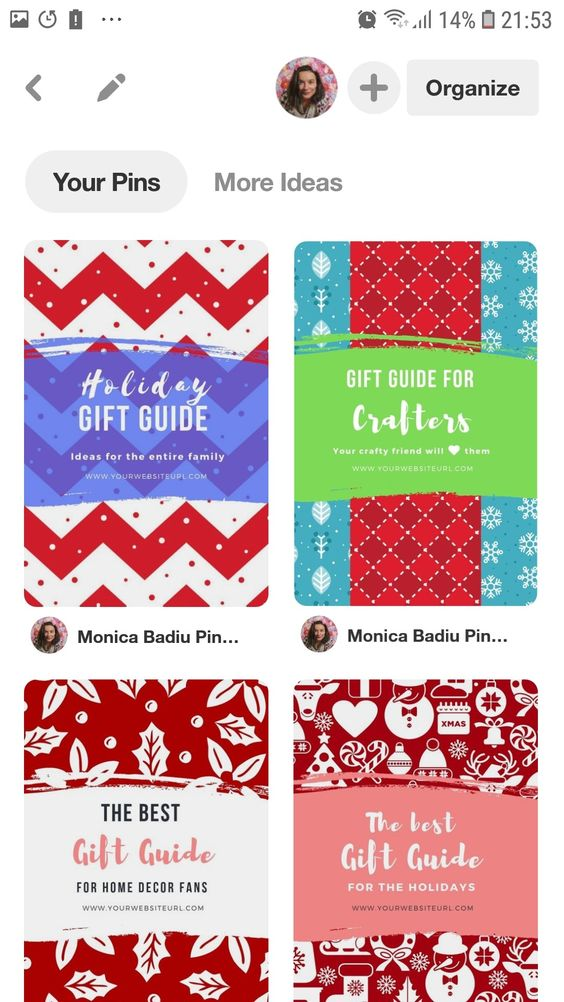 11 Gift Guide Canva Templates for Pinterest