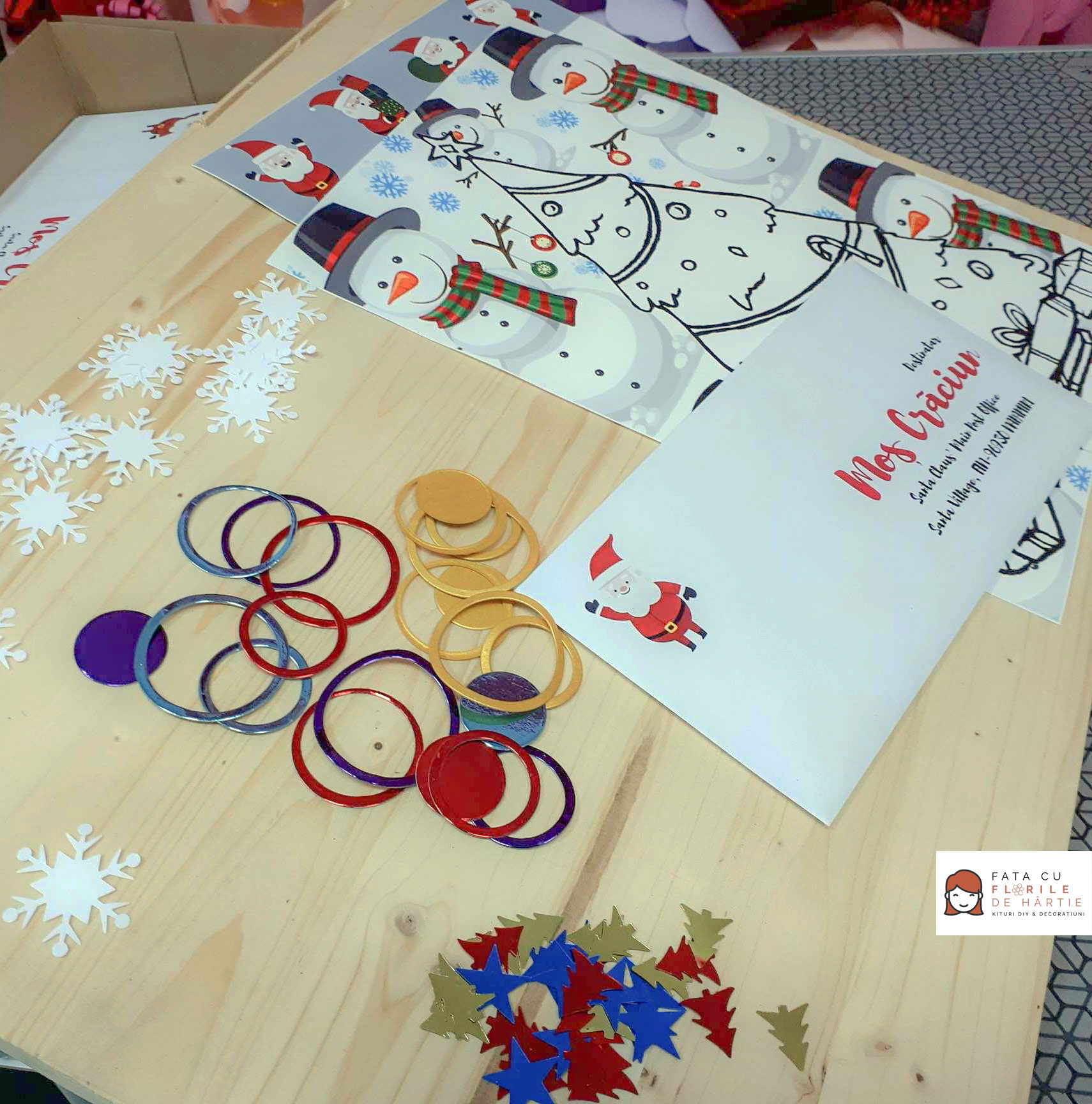 Santa Claus Letter  - DIY kit for kids