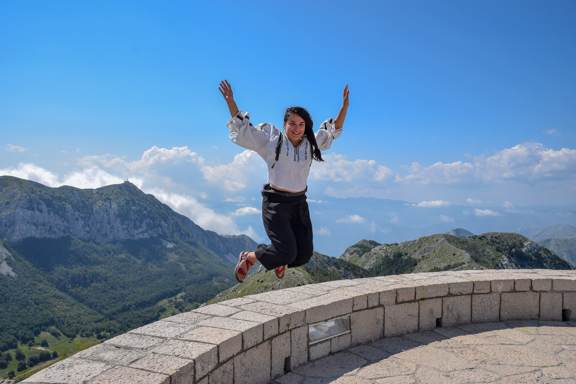 This YES thing felt scary and thrilling at the same time, much like jumping into the unknown :) Here I am in Montenegro, during my honeymoon in July.