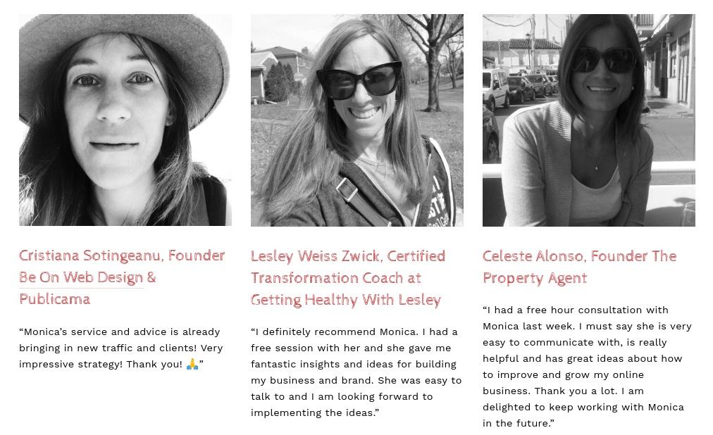 Visibility+coach+Monica+Badiu+-+Testimonials+from+clients
