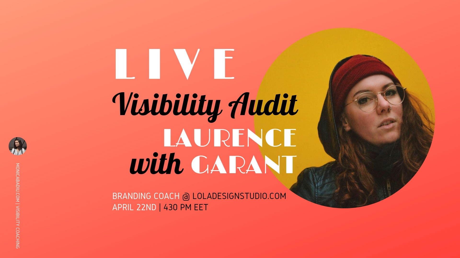 Watch Laurence Garant perform a live audit of my website and social channels.